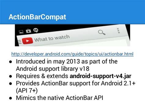 Android Support Library by Android Support Library Using Actionbarcompat