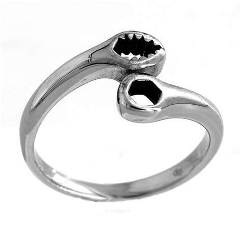 stainless steel small wrench ring debria s designs