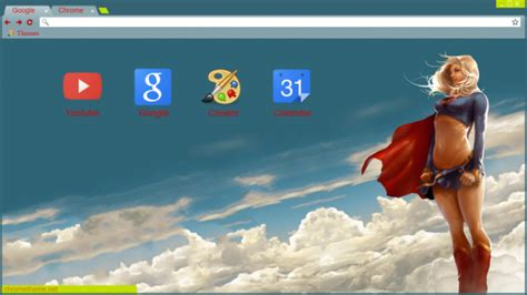 themes beta chrome supergirl chrome theme themebeta