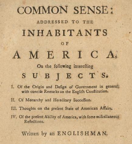 Paine Common Sense Essay by Paine S Common Sense Lesson Plan