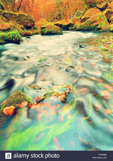 ghiaia colorata finest rientrano in natura colori dell autunno fiume