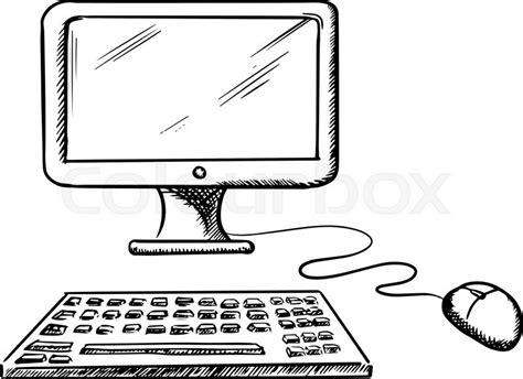 sketchbook computer ausbildung computertastatur keyboard vektorgrafik