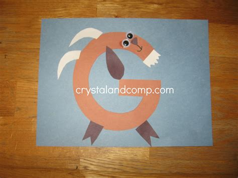 craft activity for letter fo the week preschool craft g is for goat