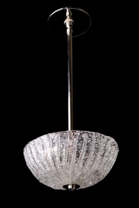 Murano Glass Light Fixtures 20th Century Murano Glass Modern Pendant Two Light Fixture In Polished Nickel At 1stdibs