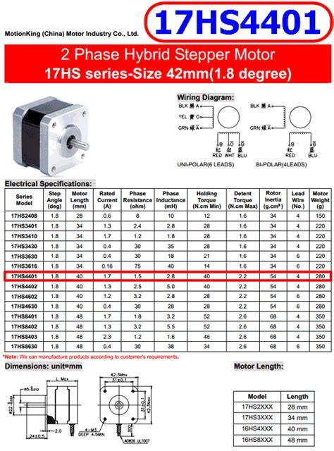 hs  phase hybrid stepper motor datasheetgocom