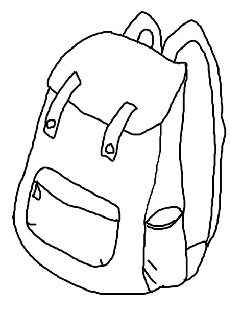 how to draw backpack coloring pages sean of the south
