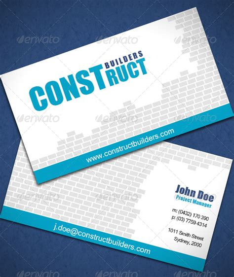 builders business cards designs templates 30 real estate business card templates tutorial zone