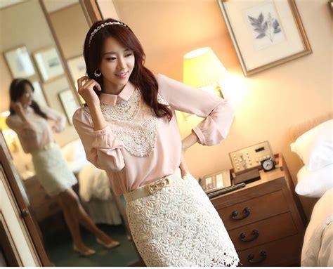 Blouse Brokat Import 1 blouse kerja import sifon kombinasi brokat model terbaru jual murah import kerja