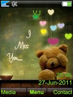 n73 themes love miss you download i miss u sony ericsson theme mobile toones