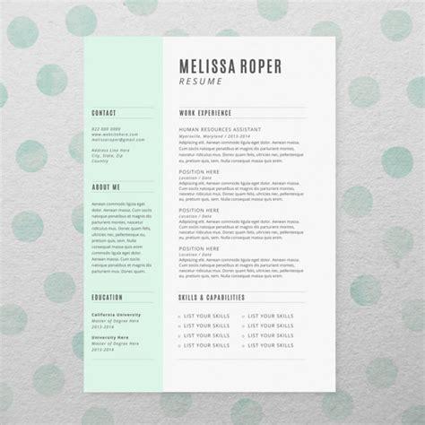 cv design etsy cv design cover letter instant download by brandconceptco