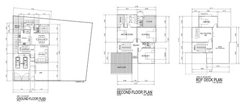 deck floor plan storey roof deck residential bldg floor plans house
