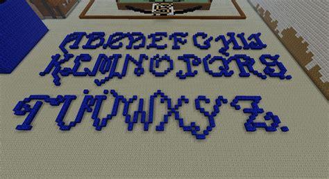 Minecraft Block Letters