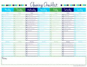 cleaning checklist printable cleaning checklist free printable