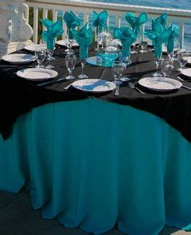 turquoise and black wedding decor mine would be and purple though wedding ideas
