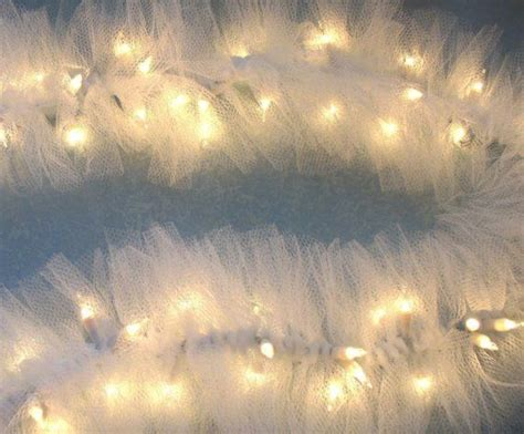 beautiful lighted swag garland white tulle on string