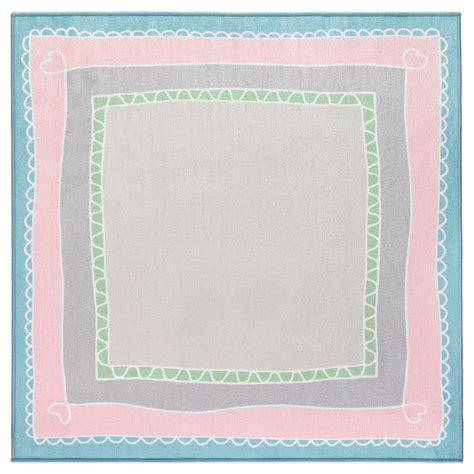 Pink And Turquoise Rug by V 196 Nskaplig Rug Pink Turquoise 133x133 Cm