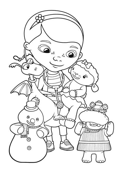 mcstuffins coloring pages    print