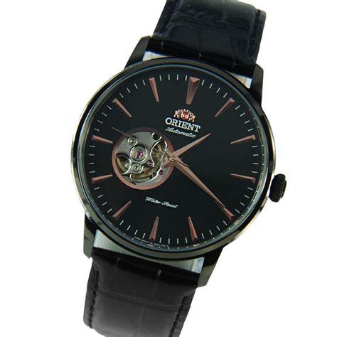 Orient Ftt16005b Chronograph Black Black Leather 1 orient automatic mens semi skeleton fdb08002b db08002b