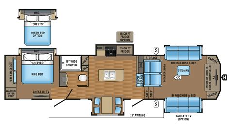 pinnacle 5th wheel floor plans 2017 jayco pinnacle 38flsa cer ebay