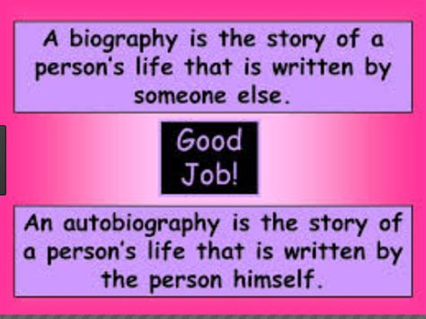 teaching difference between biography and autobiography difference between biography and autobiography biography