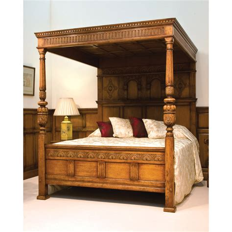 four post bed english oak magnificent four poster bed titchmarsh goodwin