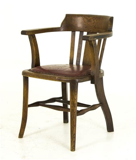 Lawyer Chair by B455 Antique Oak Arm Chair Lawyer Court Room Office