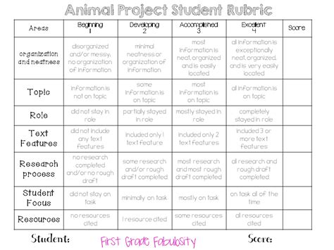 nonfiction book report rubric grade fabulosity nonfiction research project