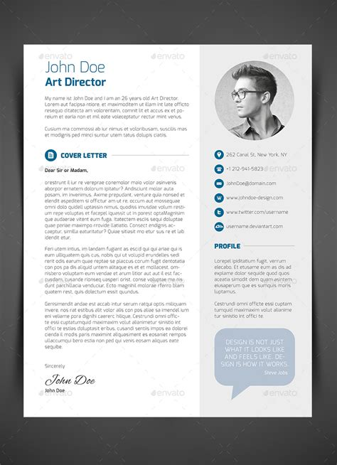 Resume Cover Letter Questions 3 resume cv cover letter by bullero graphicriver