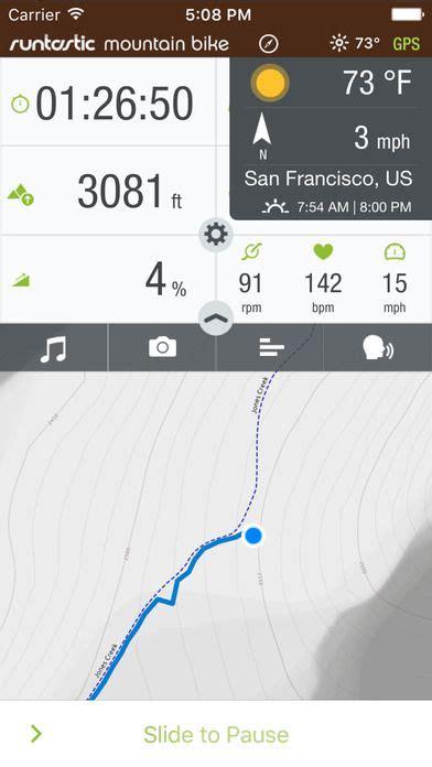 bike route tracker app runtastic mountain bike ride route tracker pro on app