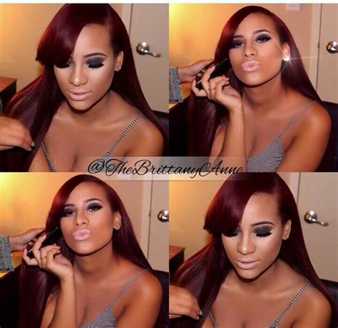 what color is cyd santana hair cyn love and hip hop red hair www pixshark com images