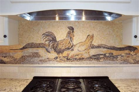 rooster backsplash kitchens