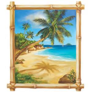 Beach Scene Wall Murals Scenery Wallpaper Tropical Beach Wallpaper Border