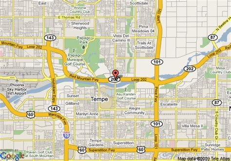 us map tempe arizona map of best western inn of tempe tempe