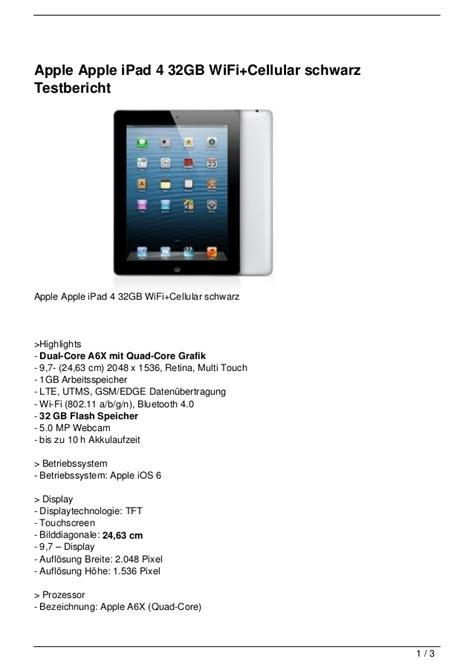 4 Wifi Cellular 32gb apple apple 4 32gb wifi cellular schwarz testbericht