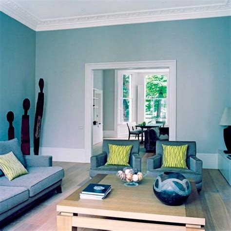 Wallpaper Dinding Kotak Frame Biru 50 dekorasi interior ruang tamu dengan warna cat biru