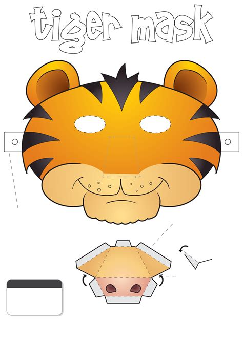printable mask of a tiger tiger face mask template free download