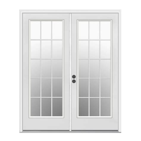 inswing patio door shop reliabilt 71 5 in 15 lite glass primer white steel