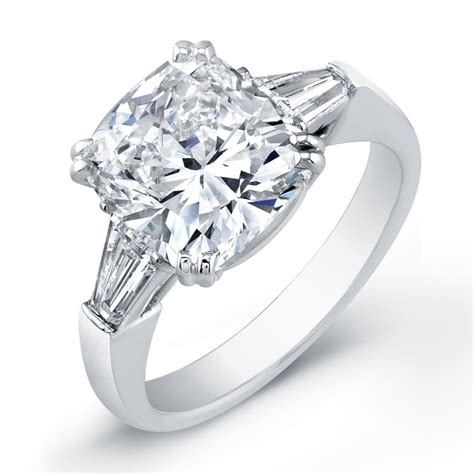 diamonds rings cushion cut ring set in platinum top 5 for