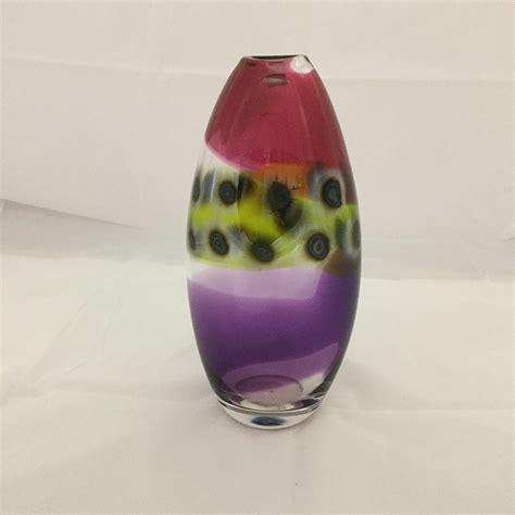 glass flower vase strappy vase by charles boha