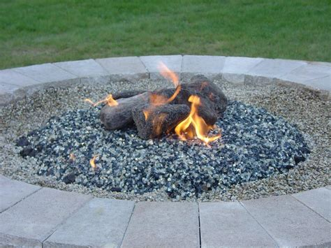 Glass Firepit Gas Pit Glass Rocks Fireplace Design Ideas
