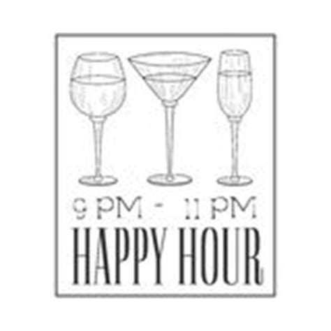 happy hour sign template happy hour time sign stock vector illustration of