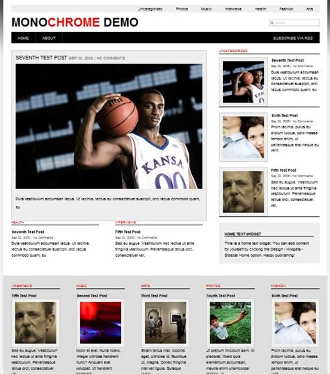 templates for wordpress free download magazine template category page 1 izzness com