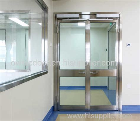 Open Glass Door Automatic Glass Swing Door Ss304 With Tempered Glass Open Manufacturer Supplier