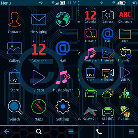 nokia themes ovi store symbian themes color lines
