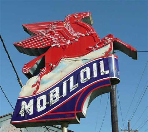 mobil pegasus sign mobil and pegasus sign vintage roadside signs