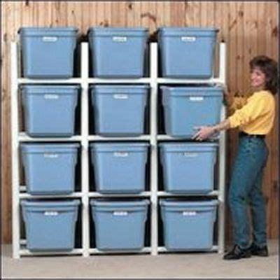 build a pvc frame for plastic storage bins tutorial in