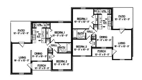 ranch duplex floor plans harriet grove ranch duplex home plan 020d 0055 house