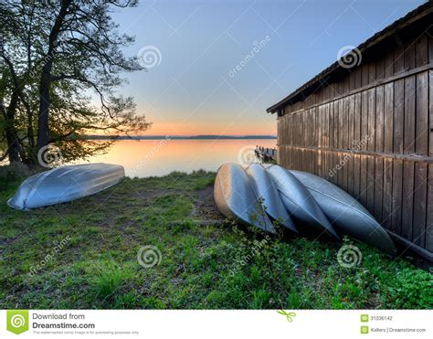 canoe boat house canoe stock photography image 31036142