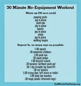 30 minute no equipment workout www getmovinchallenge org