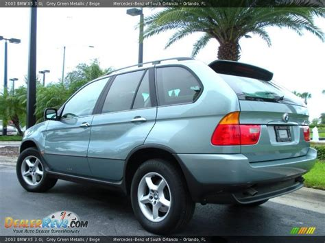 green bmw x5 2003 bmw x5 3 0i grey green metallic beige photo 8